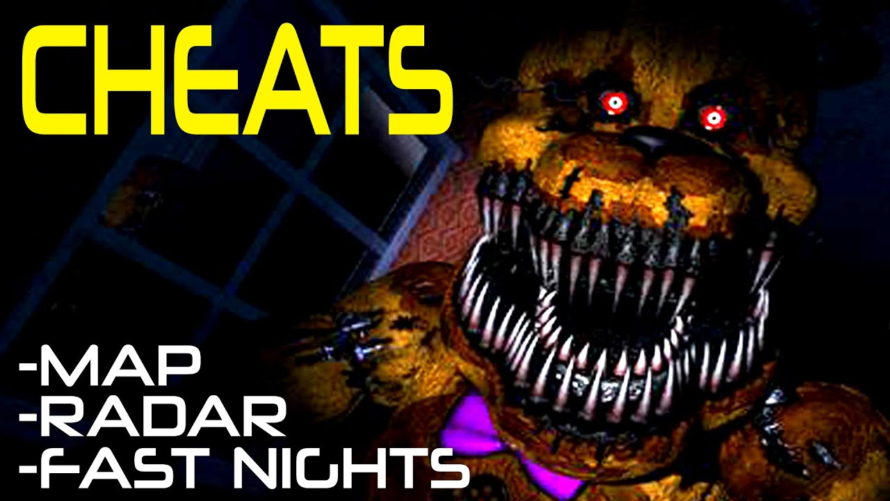 Five Nights At Freddy's CHEATS! - FNAF 4 - Fast Nights, House Map, Danger  Indicator