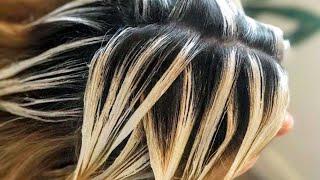 Легкий БАЛАЯЖ. Техника окрашивания натуральных волос.