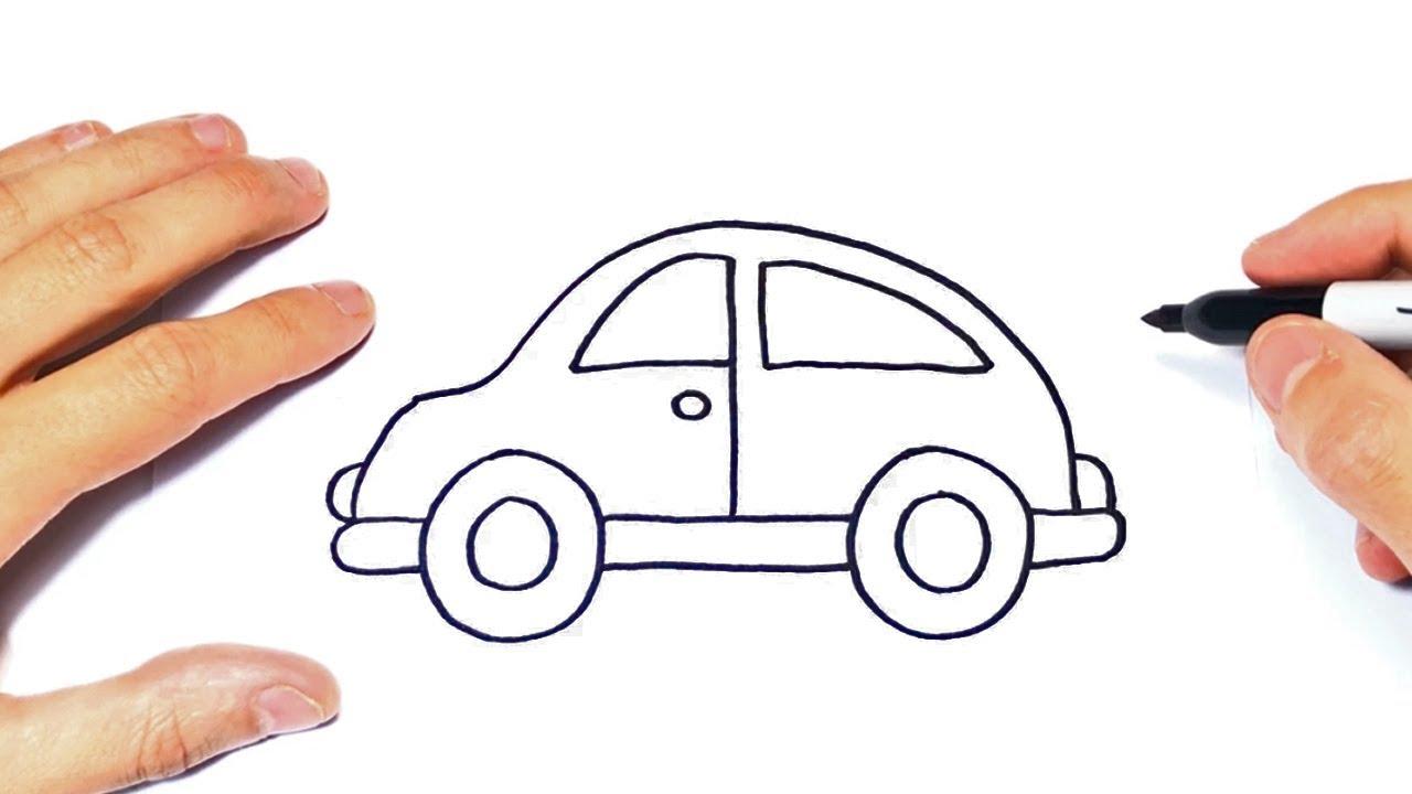 Cómo dibujar un Auto Facil Paso a Paso   Dibujo de Auto Facil ...