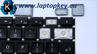 "How to install key in keyboard APPLE Aluminum 13"" G4 and many others..."