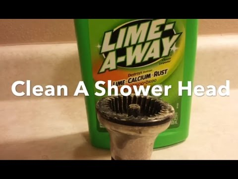 How To Clean A Shower Head, Clean Hard Water Stains, Remove Lime And Calcium Buildup, Lime Away.
