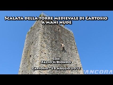 Cartosio - Scalata della torre medievale a mani nude