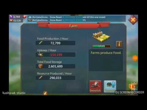 Lords Mobile Hints & Tips -  Food Management