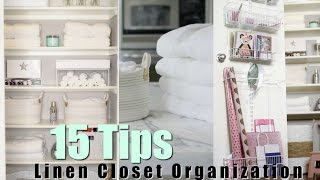 15 Tips For Organizing Your Linen Closet! MissLizHeart