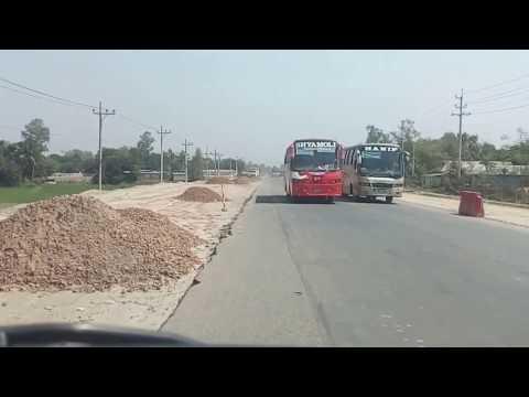 Dhaka-Tangail Highway Bus-Track crazy overtaking
