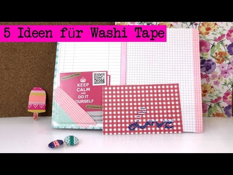 diy einfache washi masking tape ideen funnycat tv. Black Bedroom Furniture Sets. Home Design Ideas