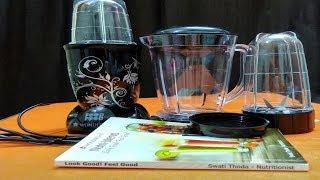 Wonderchef Nutri- Blend 400 Watt Mixer Grinder with 3 Jars (Black)/ Unboxing