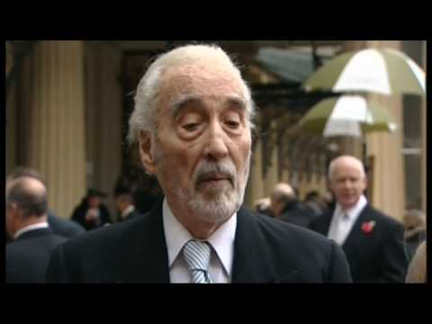 Actor Christopher Lee is knighted