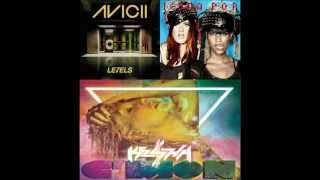 Ke$ha v. Icona Pop v. Avicii (C'mon/I Love It/Levels Mashup)