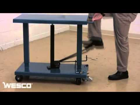 Foot Pump Operated Lift Table Youtube