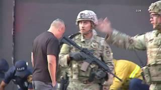 DTLA Fatal Shooting LAFD & National Guard At Scene / Downtown LA