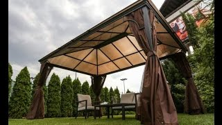 Metal Gazebo With Polycarbonate Roof