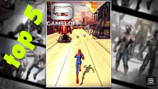 top 5 ultra high graphic gameloft games android