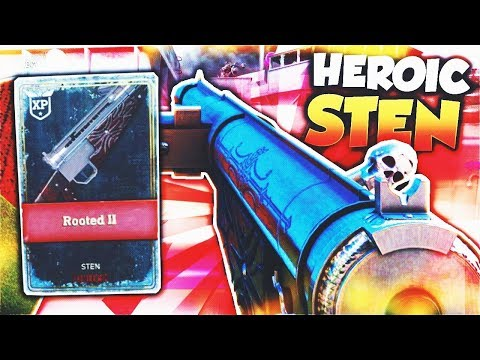 """HEROIC STEN is GODLY in Call of Duty WW2! (Sten Rooted II) - WW2 HEROIC """"STEN"""" Rooted II Gameplay!"""