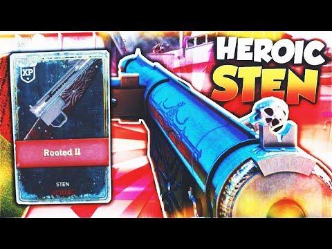 HEROIC STEN is GODLY in Call of Duty WW2! (Sten Rooted II) - WW2 HEROIC