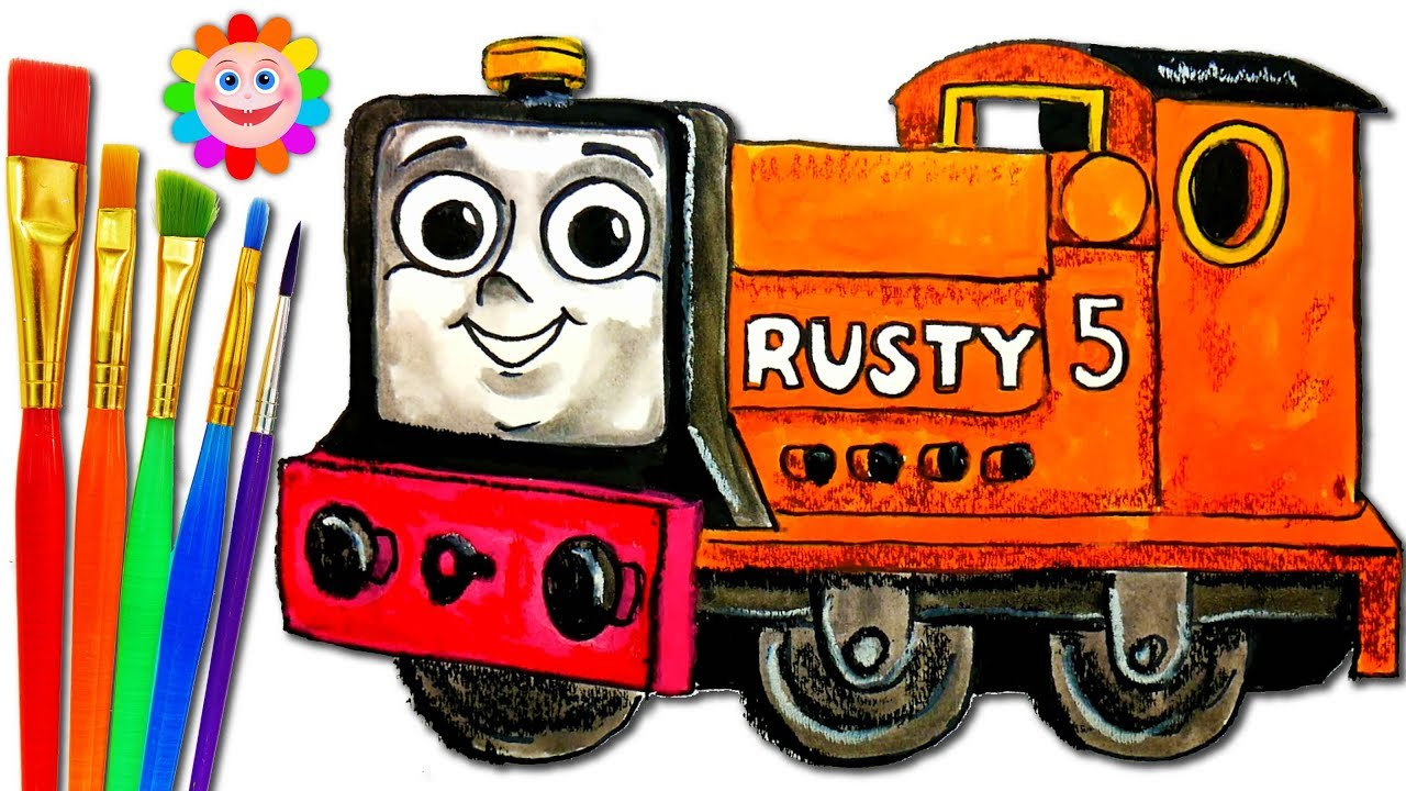 Color Train Thomas And Friends How To Draw Rusty Small