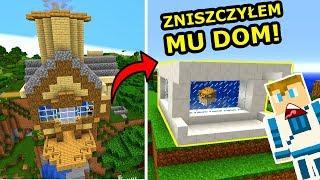 BRUTALNA ZEMSTA NA DOKNESIE! -ZAMIENIŁEM JEGO DOM W AKWARIUM! | Minecraft Jeż Na Ferajnie!