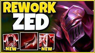 *NEW REWORK* ZED IS NO LONGER A MID LANER (RIOT'S WORST IDEA) - League of Legends