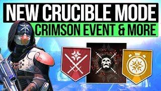 Destiny 2 News | NEW SUDDEN DEATH MODE! - Crimson Days Quest, New Crucible Medals & Bungie Feedback!