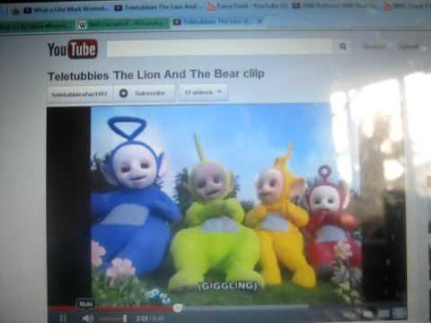 Teletubbies with the lion and the bear youtube