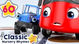 Stuck In The Mud | Go Buster! | +More Vehicle Songs | Little Baby Bum