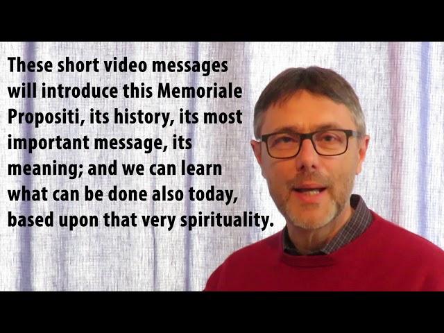 EN Memoriale Propositi: Message by Tibor Kauser