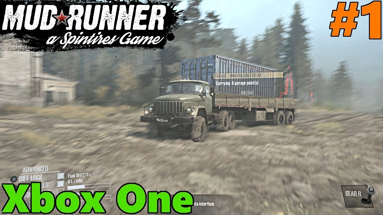 spintires mud runner xbox one gameplay let 39 s play part 1. Black Bedroom Furniture Sets. Home Design Ideas