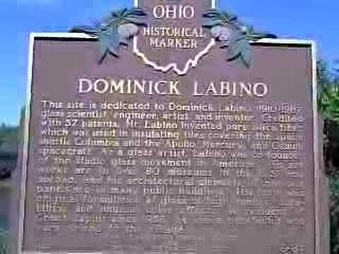 Ohio Marker - Dominick Labino Glass Artist