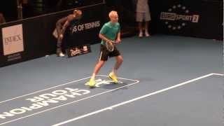 john mcenroe at kings of tennis stockholm playing incredible you can t be serious
