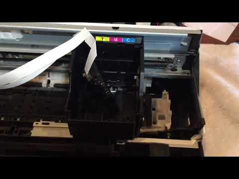 Epson WF 2540 not printing, head cleaning, tear down.