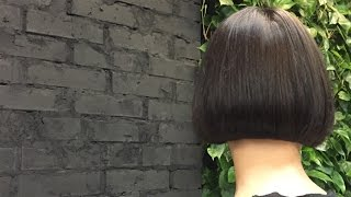 how to cut perfect bob