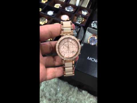 44256a0e4df9 MICHAEL KORS Parker Blush Dial Rose Gold-tone and Blush Acetate Ladies  Watch MK5896 - YouTube