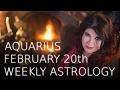 Aquarius Weekly Astrology Forecast 20th February 2017