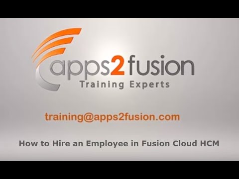 How to Hire an Employee in Fusion Cloud HCM