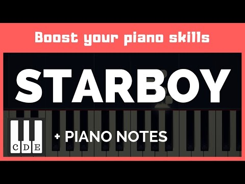 keyboard notes: The Weeknd – Starboy