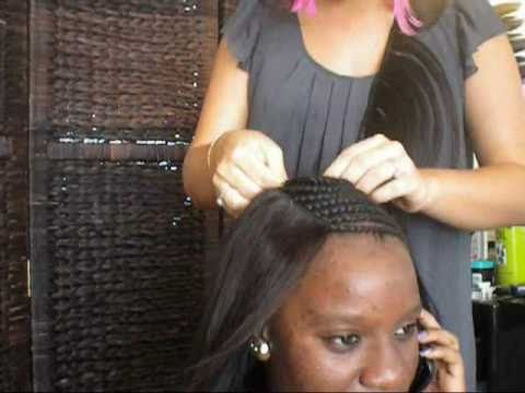 How to Sew a Full head Celebrity weave,Braid pattern ...