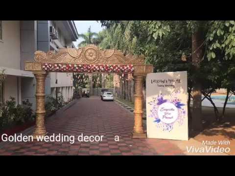Kerala Traditional Wedding Stage Decoration Youtube