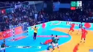 فوز الجزائر على تونس 25 - 21 في كأس امم افريقيا لكرة اليد 25 01 2014