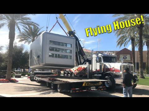 Lifting A Small House! Oversize Load!