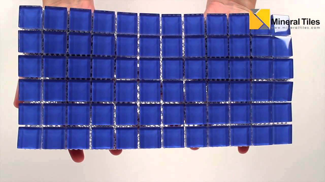 Glass Mosaic Tile Backsplash Royal Blue 1x1 - 101CHIGLABR131 - YouTube