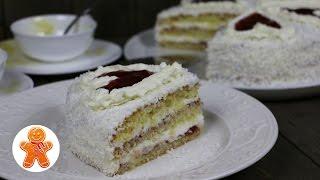 """Торт """"Нежный"""" Очень Вкусный и Несложный ✧ Coconut Cake (English Subtitles)"""