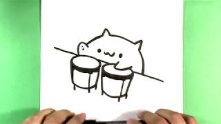 How to Draw Bongo Cat Step by Step - How to Draw Easy Things