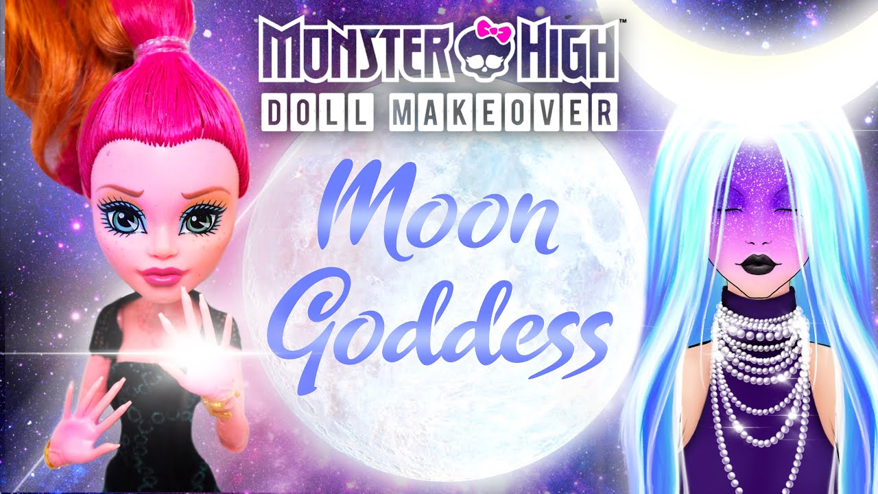 Making GODDESS OF THE MOON / Glow in the Dark Galaxy Doll / Monster High Repaint by Poppen Atelier