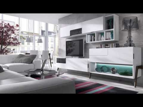 Muebles de sal n modernos blancos youtube for Muebles de salon modulares modernos