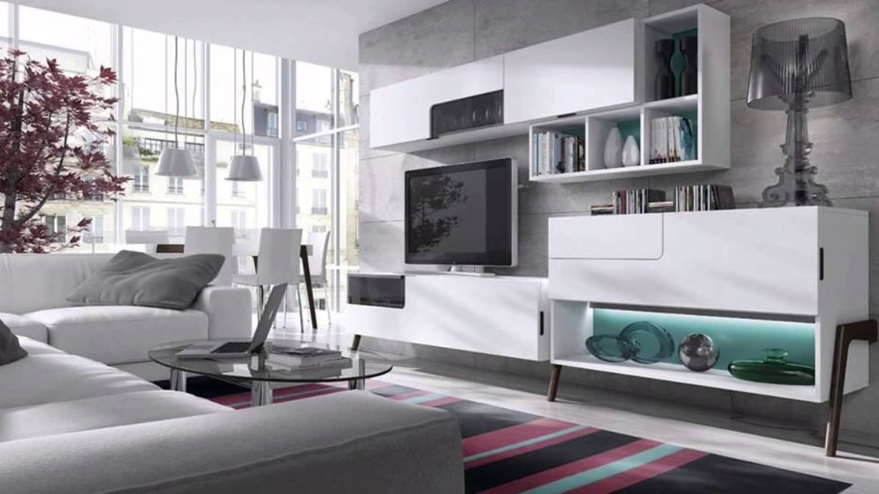 Muebles de sal n modernos blancos - Ultimas tendencias en decoracion de salones ...