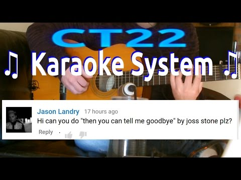Joss Stone - Then You Can Tell Me Goodbye KARAOKE GUITAR REQUEST
