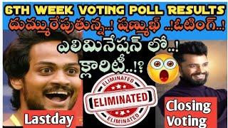 Bigg Boss 5 Telugu 6th week voting results| bigg Boss 5 Telugu 6th week elimination #biggboss5promo