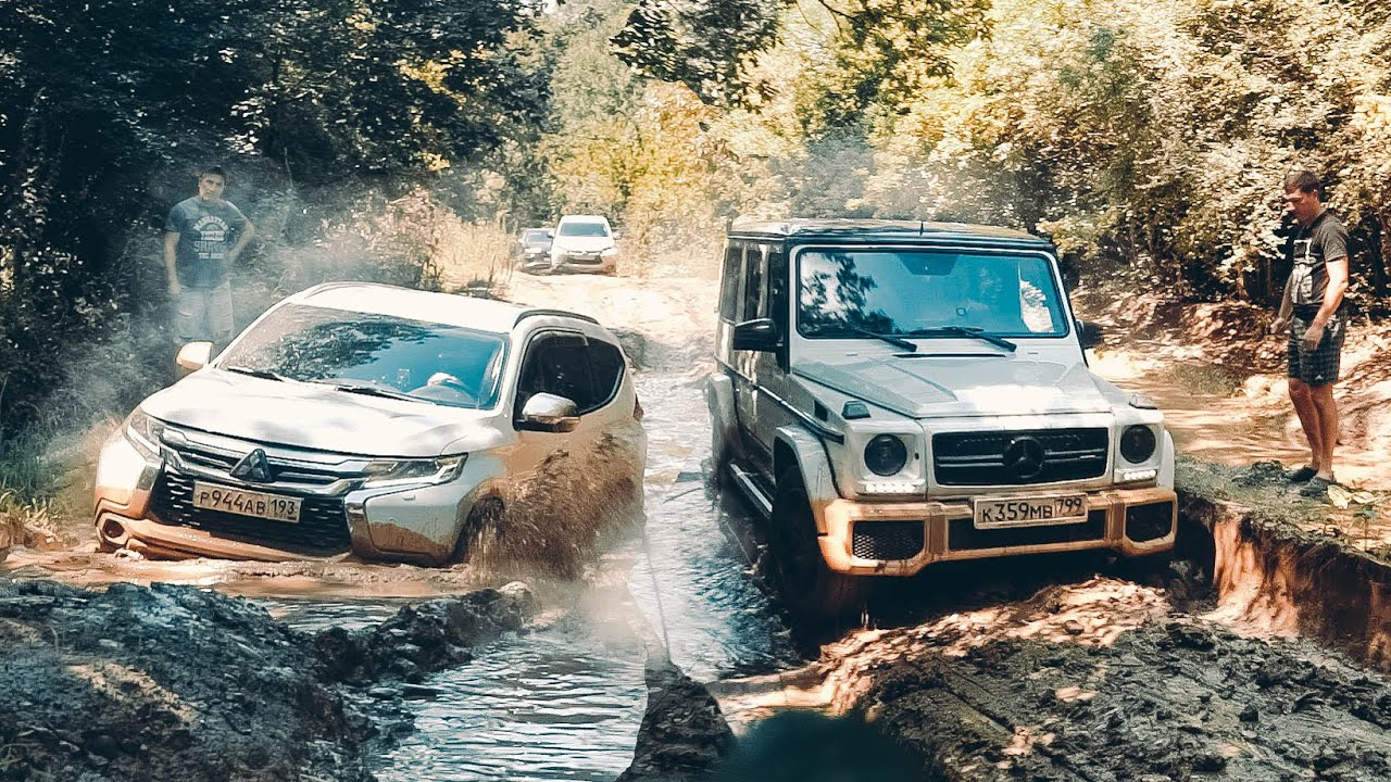 Это ХУДШАЯ дорога в ГЕЛЕНДЖИК! Mercedes G63 AMG vs JEEP WRANGLER по БЕЗДОРОЖЬЮ