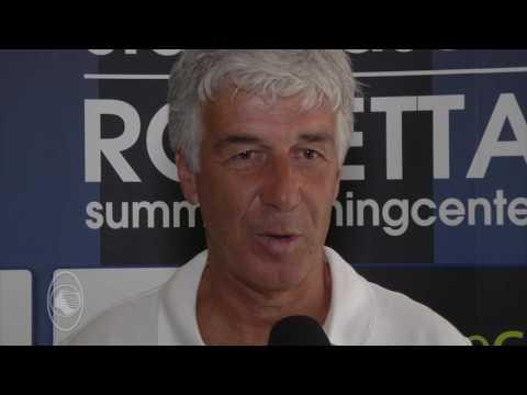 Gian Piero Gasperini nel ritiro di Rovetta