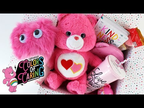 PINK Care Bears Care Package Celebrating LOVE - Ft. LOVE-A-LOT Bear